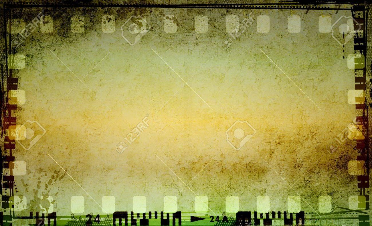 Grunge striscia di pellicola telaio Archivio Fotografico - 16453355