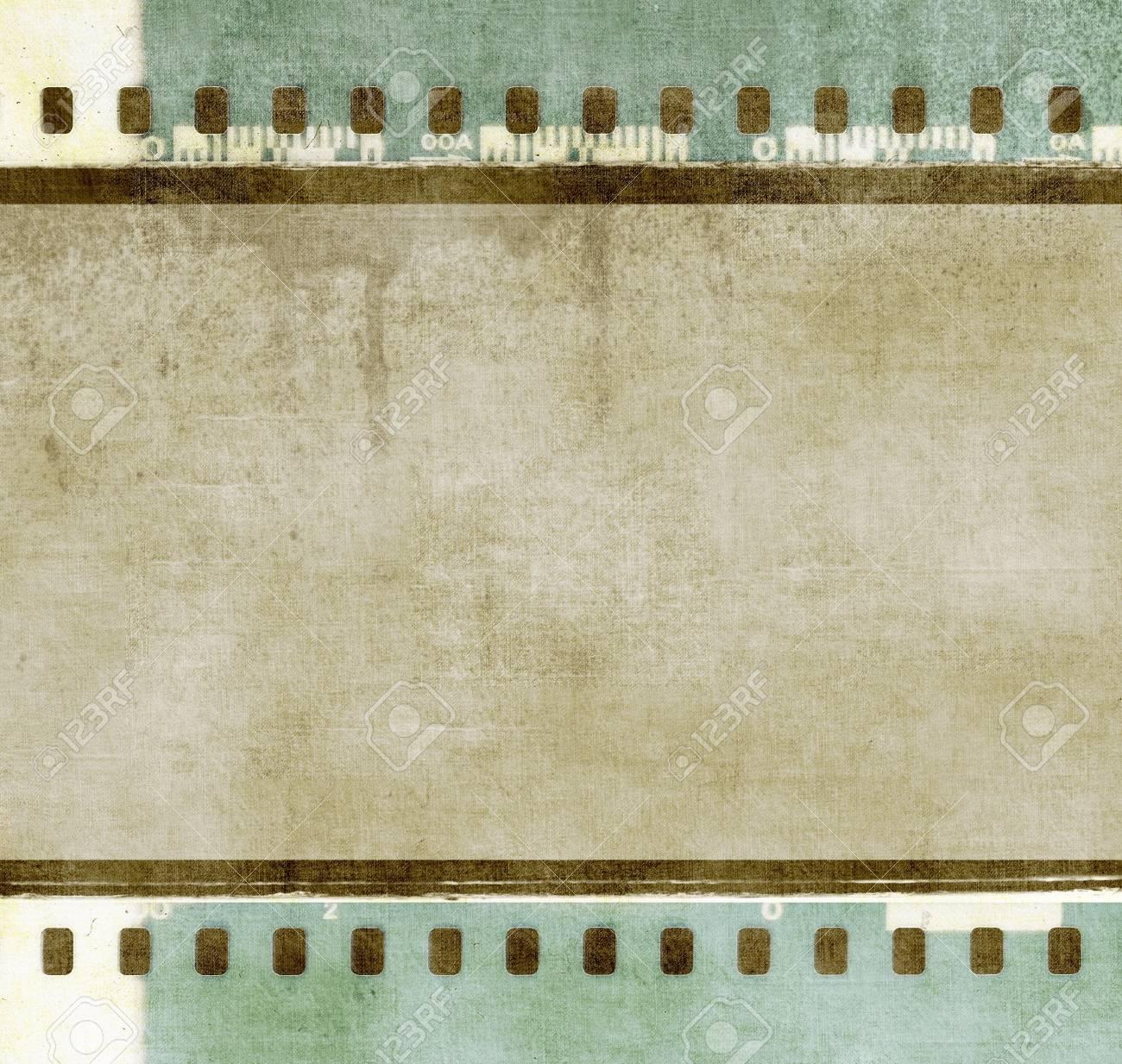 Vintage-Filmstreifen Rahmen In Grün Und Sepiatönen Farben ...