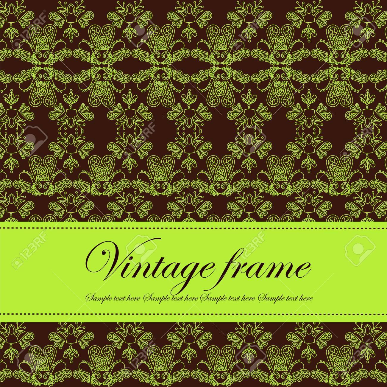 Template frame design for card Stock Vector - 14975345