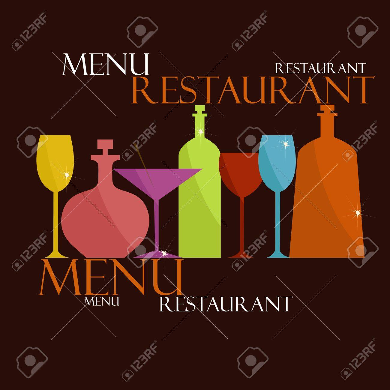 sample menus for restaurants and cafes royalty free cliparts