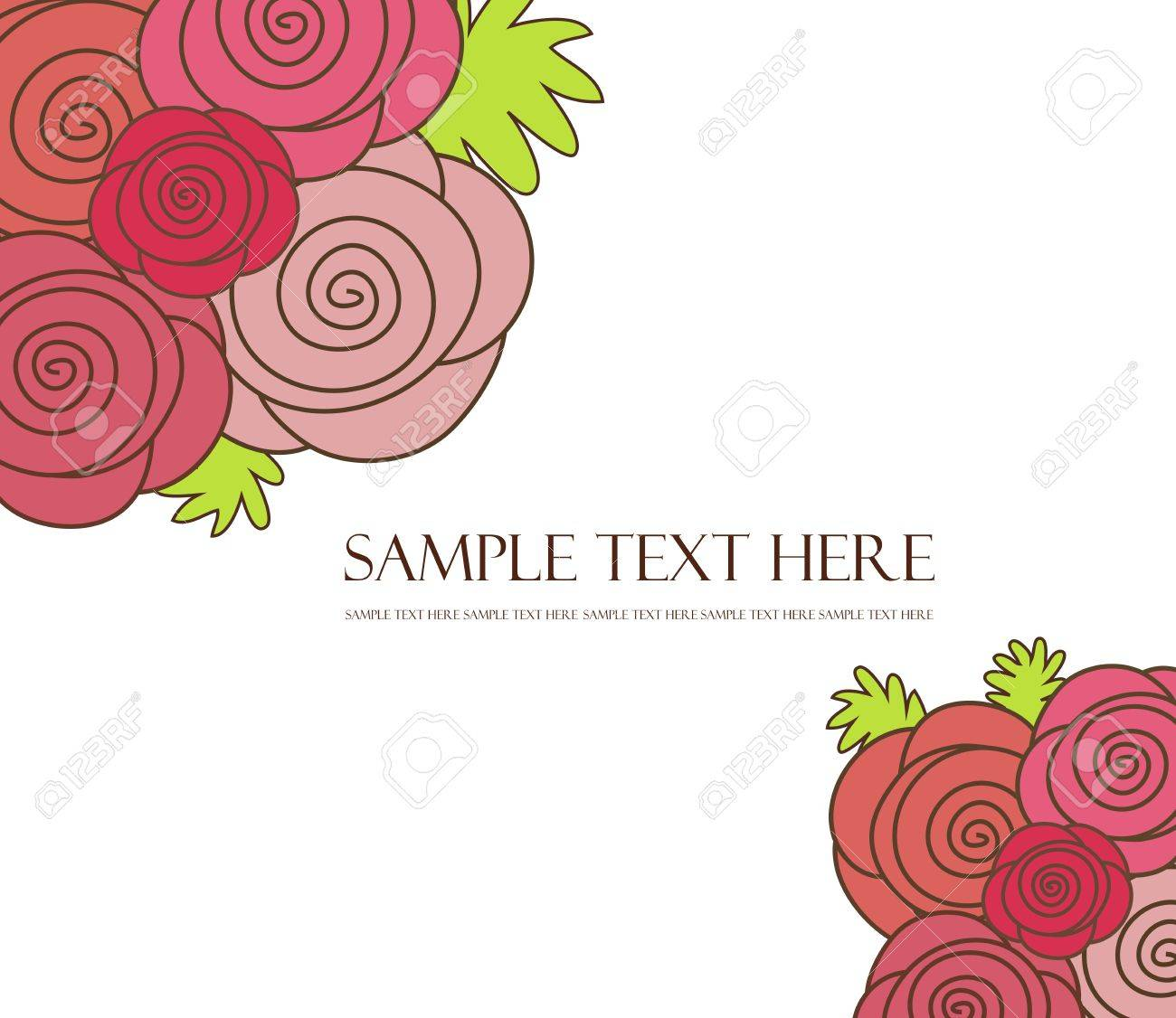Floral background of roses Stock Vector - 15690323