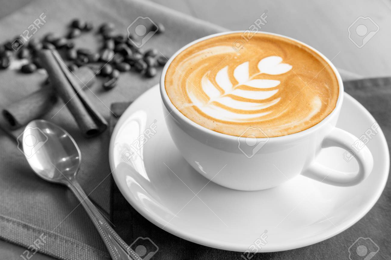 A Cup Of Coffee Latte Stock Photo Picture And Royalty Free Image Image 68034748