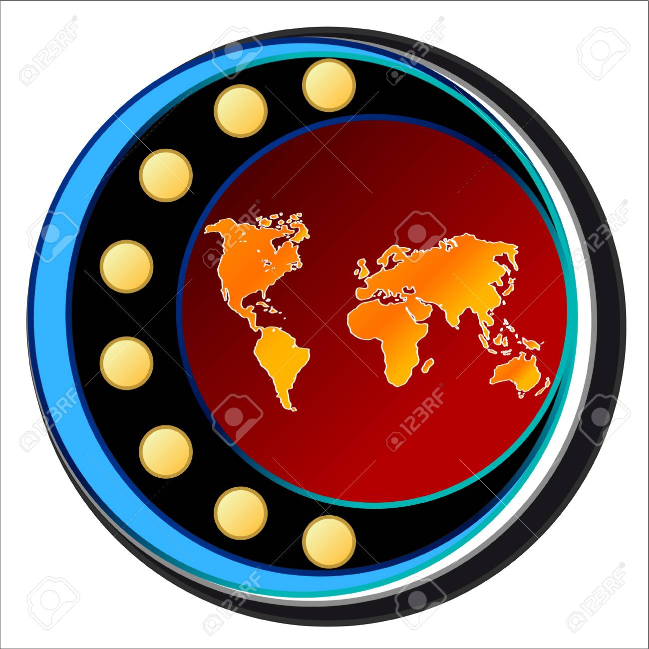 World icon located on a white background Stock Vector - 15735747