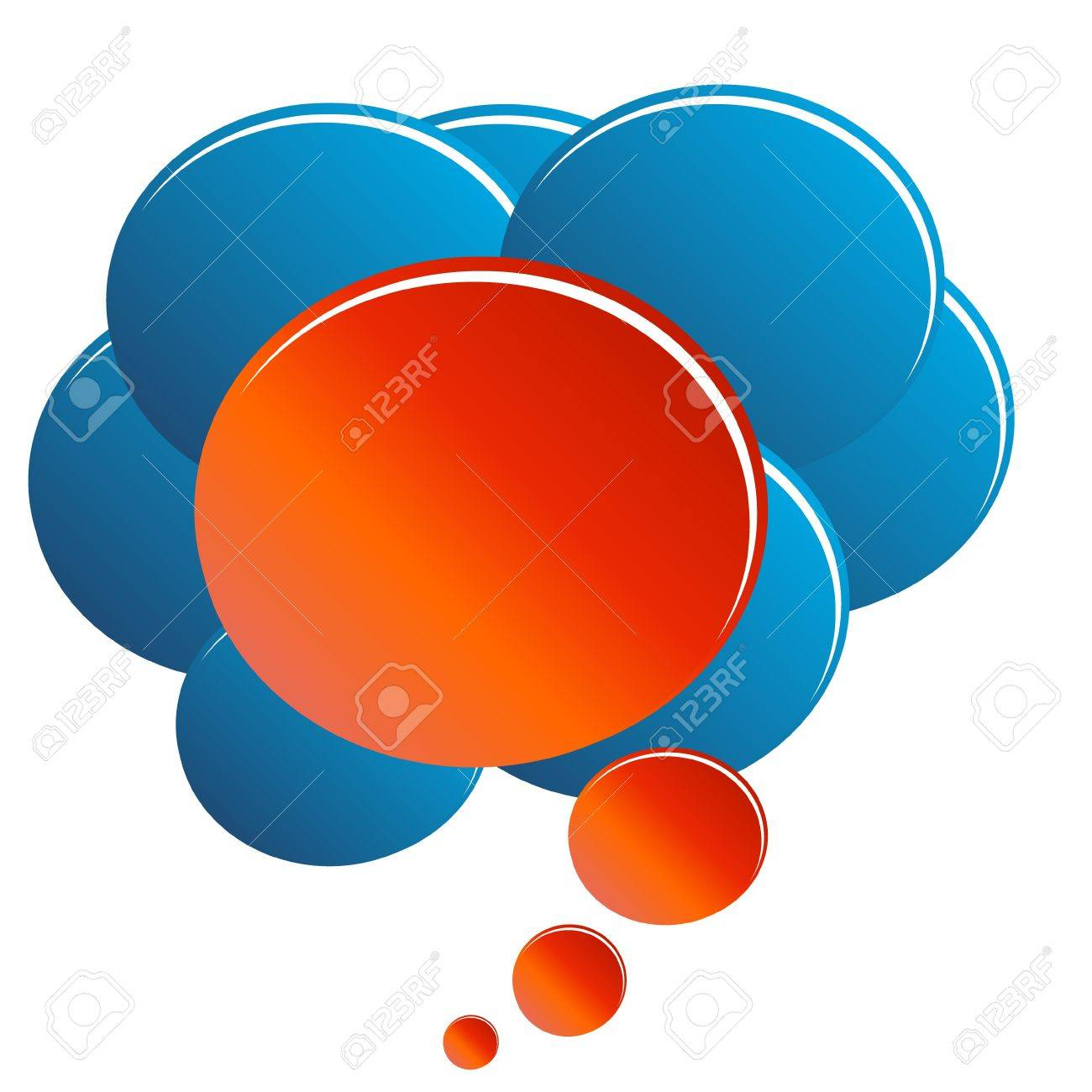 The abstract concept of unique opinion in the form of clouds Stock Vector - 16656621