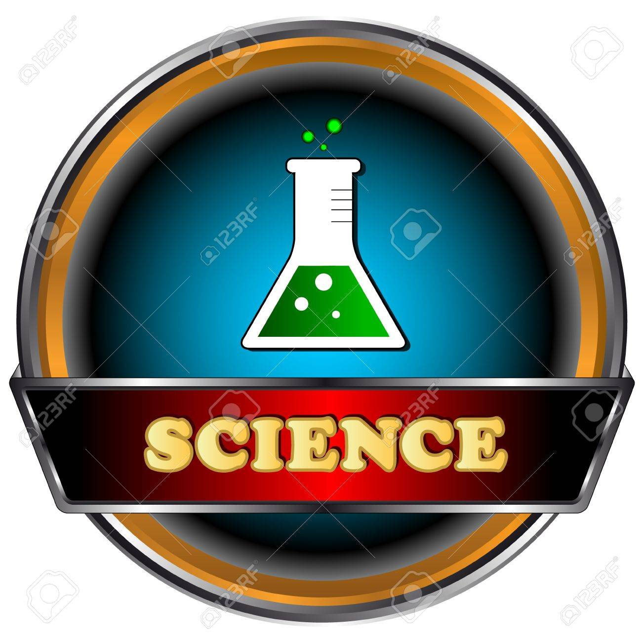 Good science icon on a white background Stock Vector - 16656704