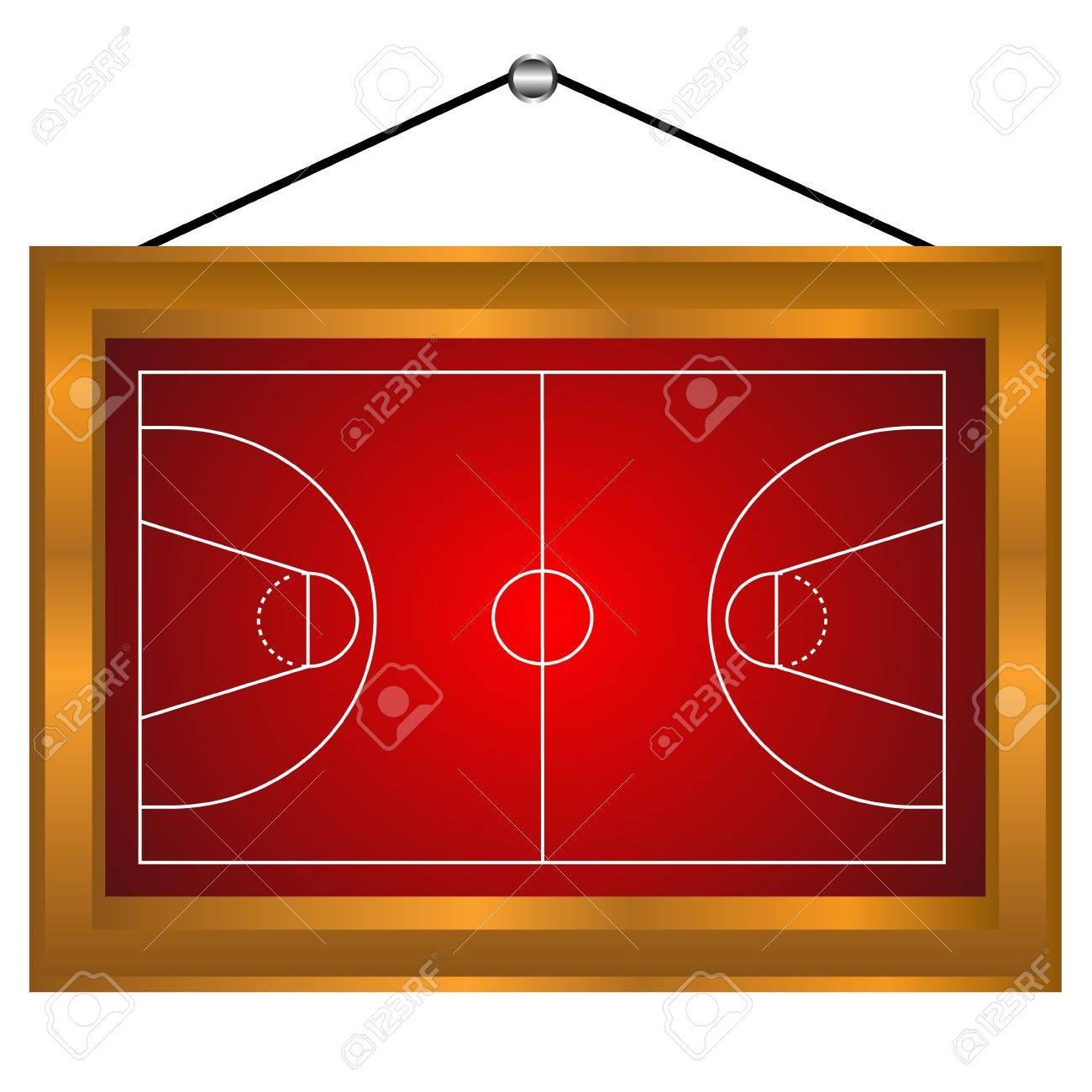 Basketball-Plattform In Einem Rahmen Auf Einem Weißen Hintergrund ...