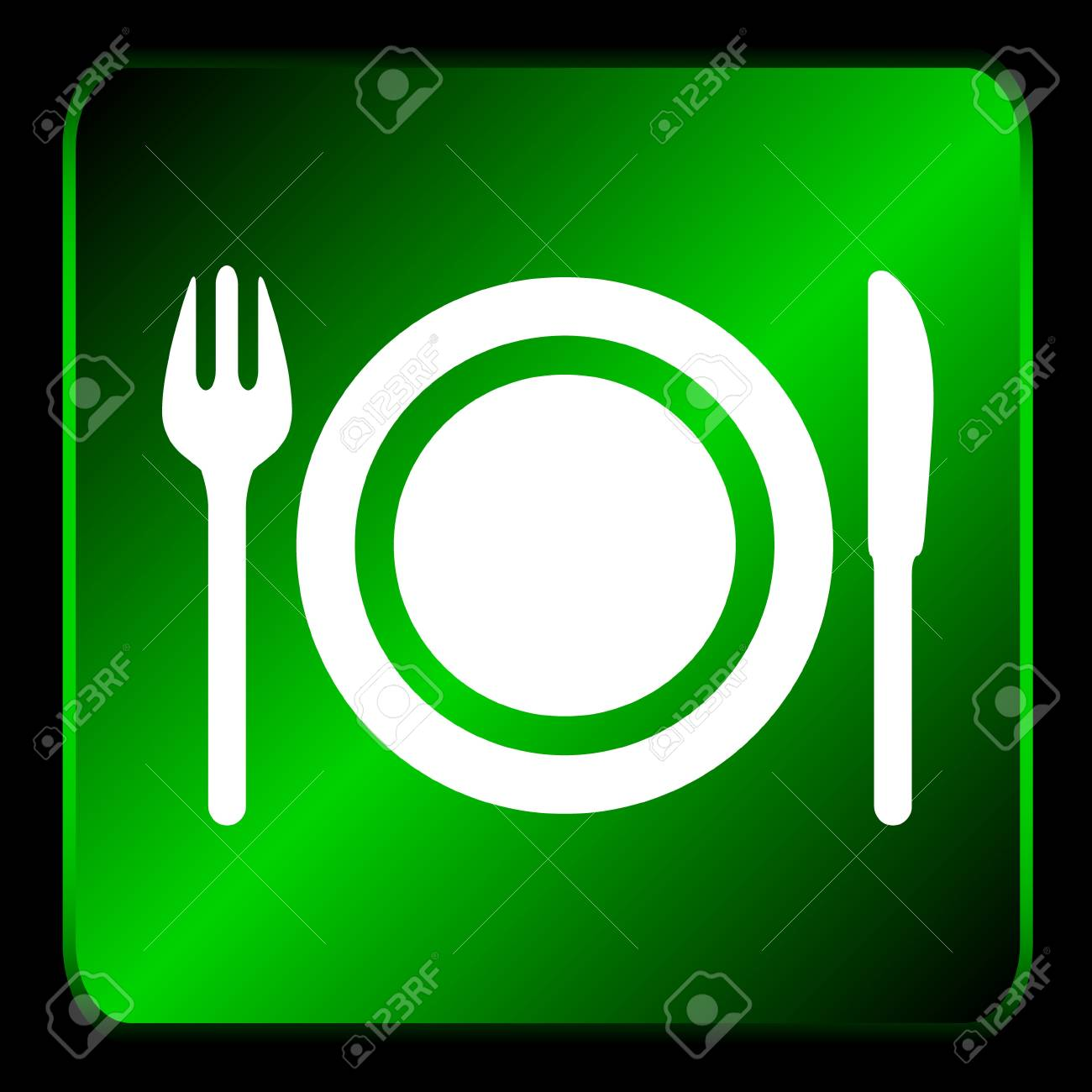 New restaurant icon with plug and knife Stock Vector - 16798017