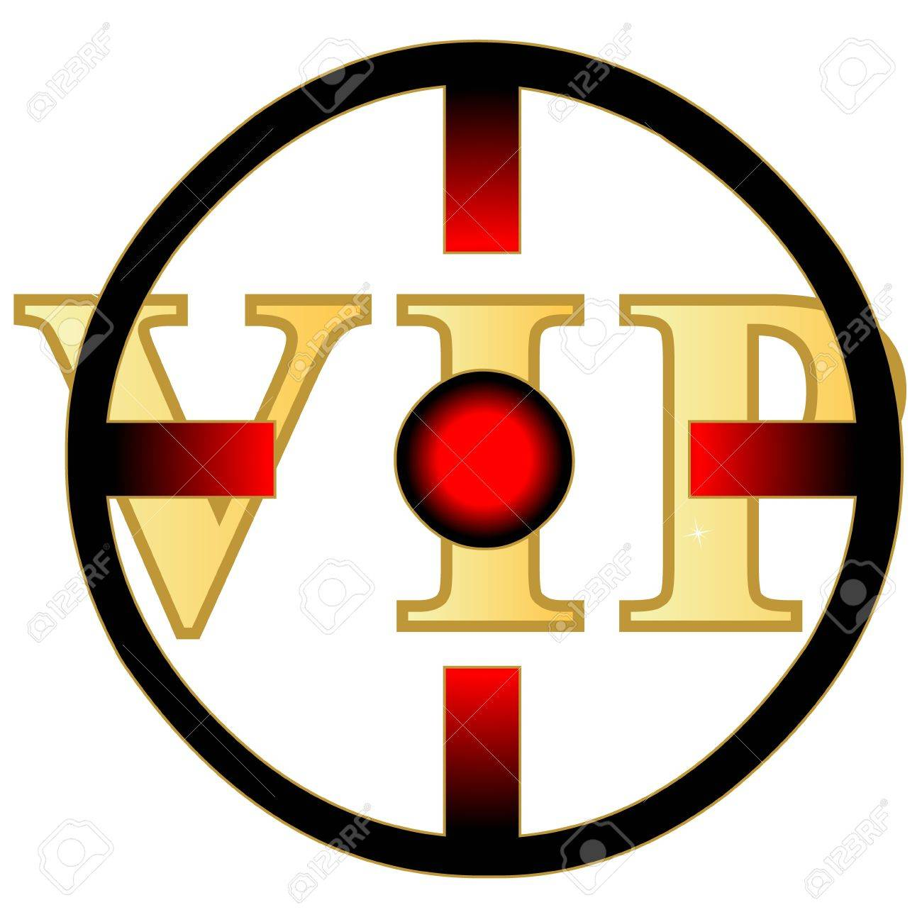 Vip under the red eye on white background Stock Vector - 17744202