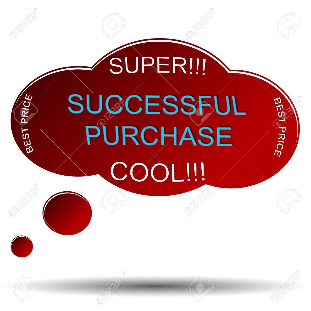 Unique successful purchase symbol located on a white background Stock Vector - 17744120
