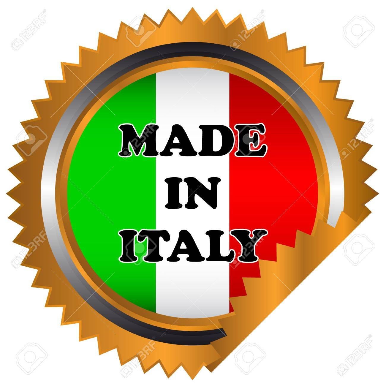 Made in italy icon on a white background Stock Vector - 17897267