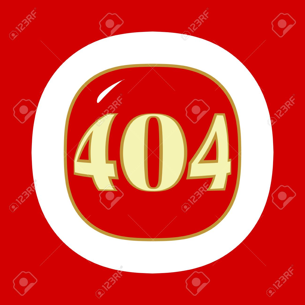 Red 404 error symbol in a unique style. Vector illustration Stock Vector - 19244675