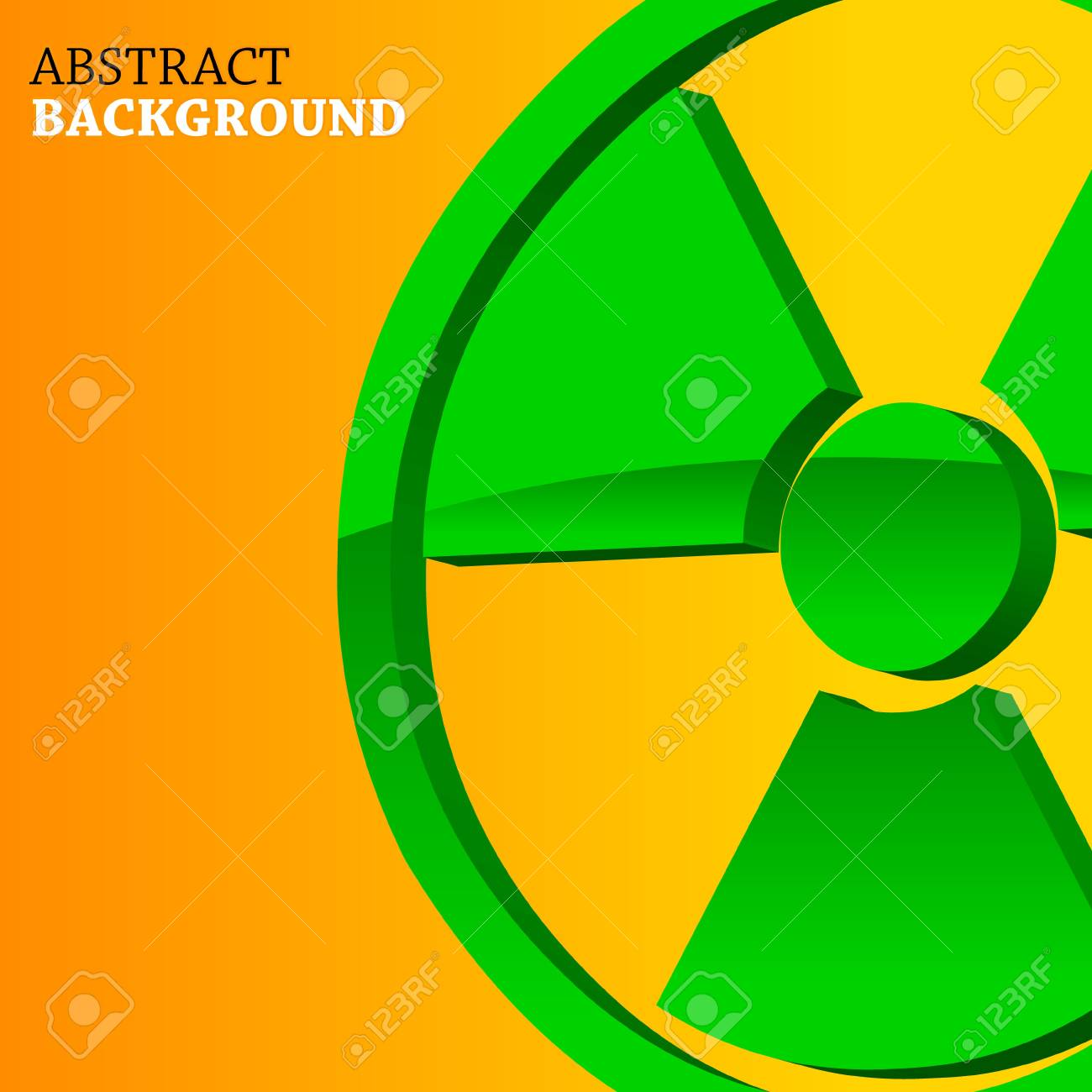 Abstract background with a nuclear symbol in a unique style Stock Vector - 20588824