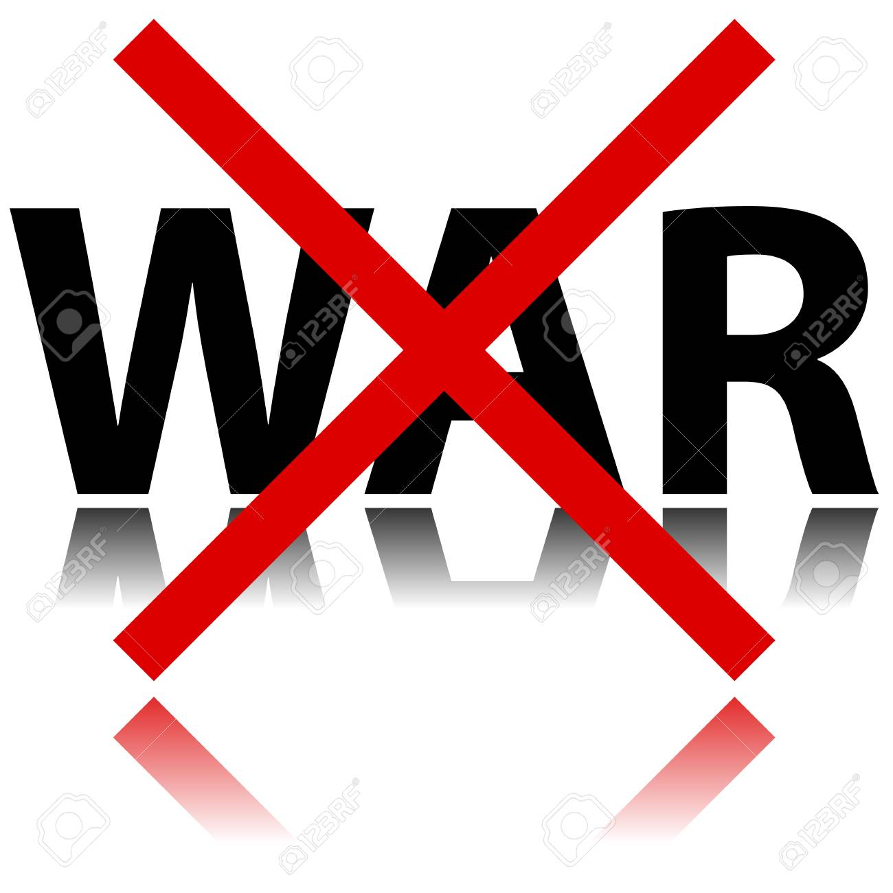 Illustration of no war sign on white background Stock Vector - 26578174