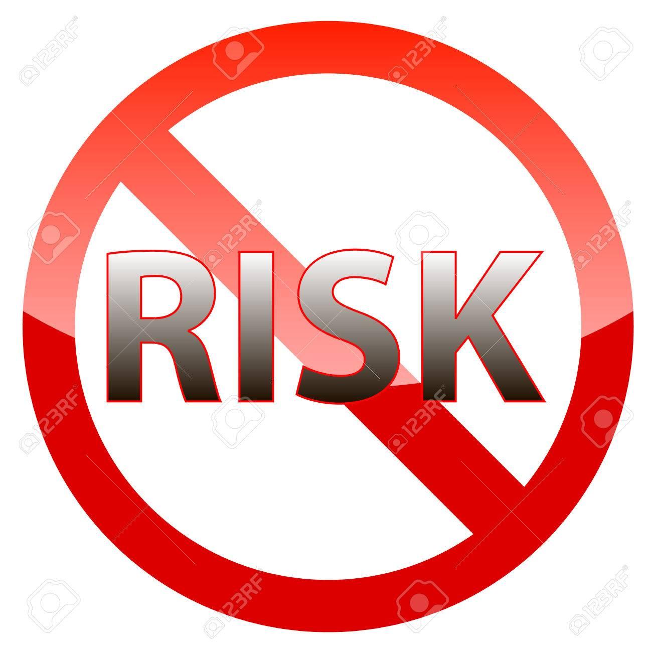 白い背景にリスクフリー保証アイコン のイラスト素材・ベクタ - . Image 27718130.
