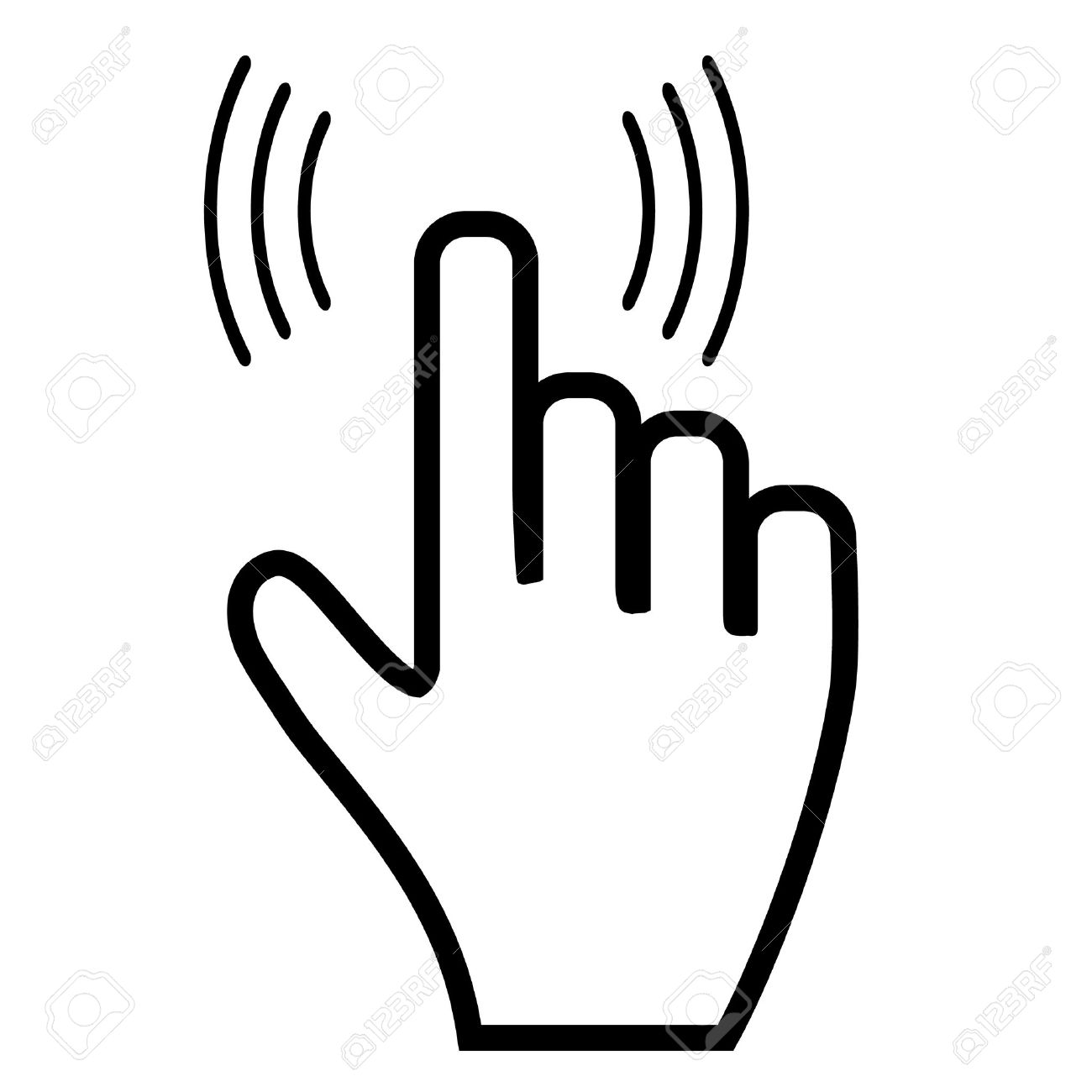 click hand icon pointer royalty free cliparts vectors and stock rh 123rf com hand drawn icon vector hand icon vector eps