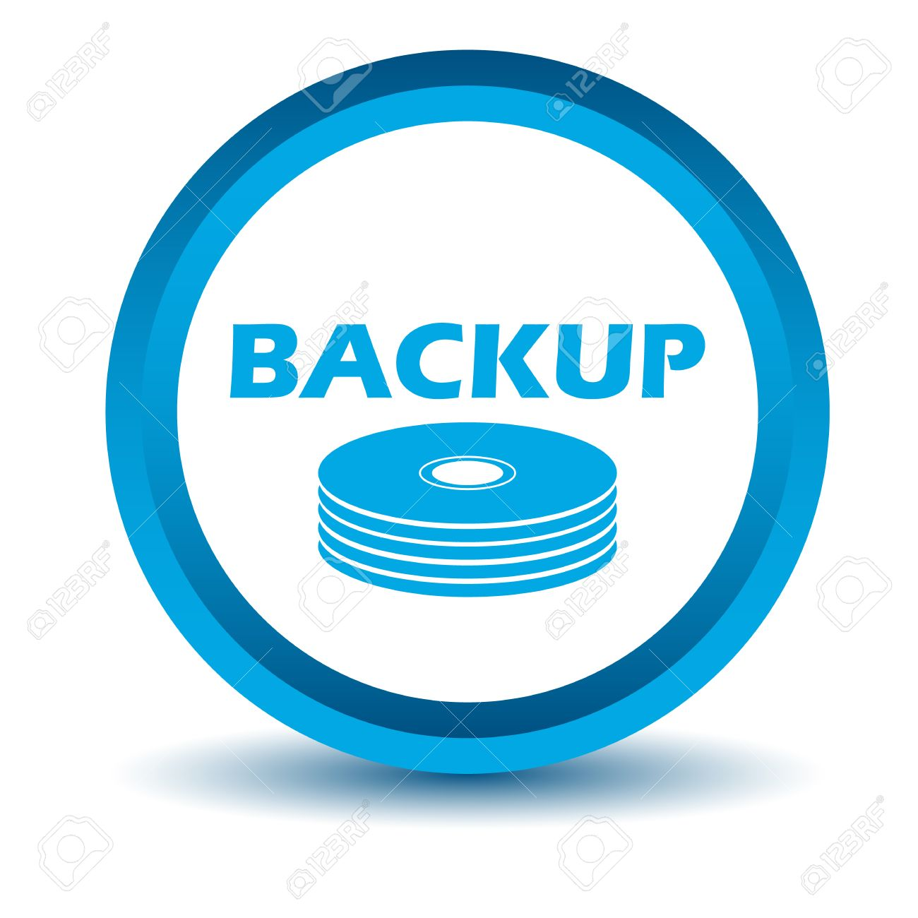 Blue Backup Icon Royalty Free Cliparts, Vectors, And Stock ...