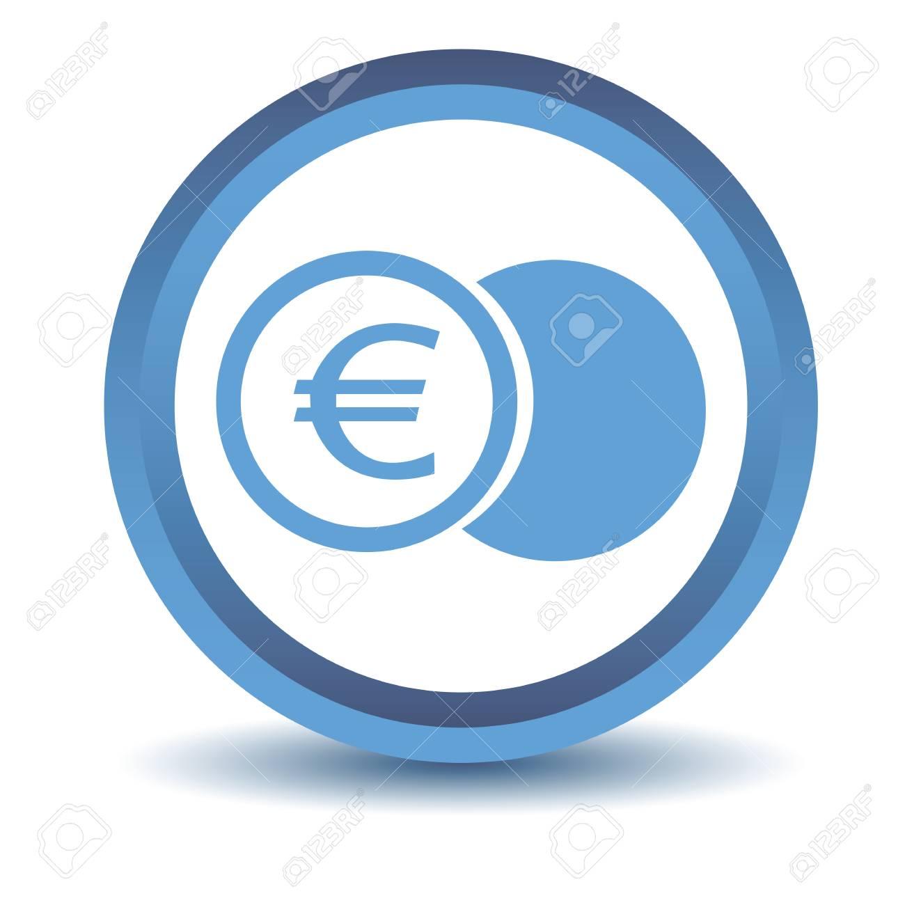 Blau Euro Münze Symbol Lizenzfrei Nutzbare Vektorgrafiken Clip Arts