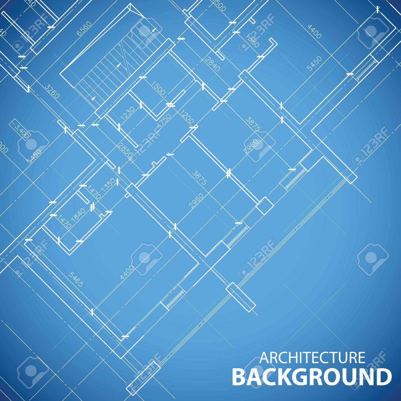 New Building Plan Background Royalty Free Cliparts Vectors And