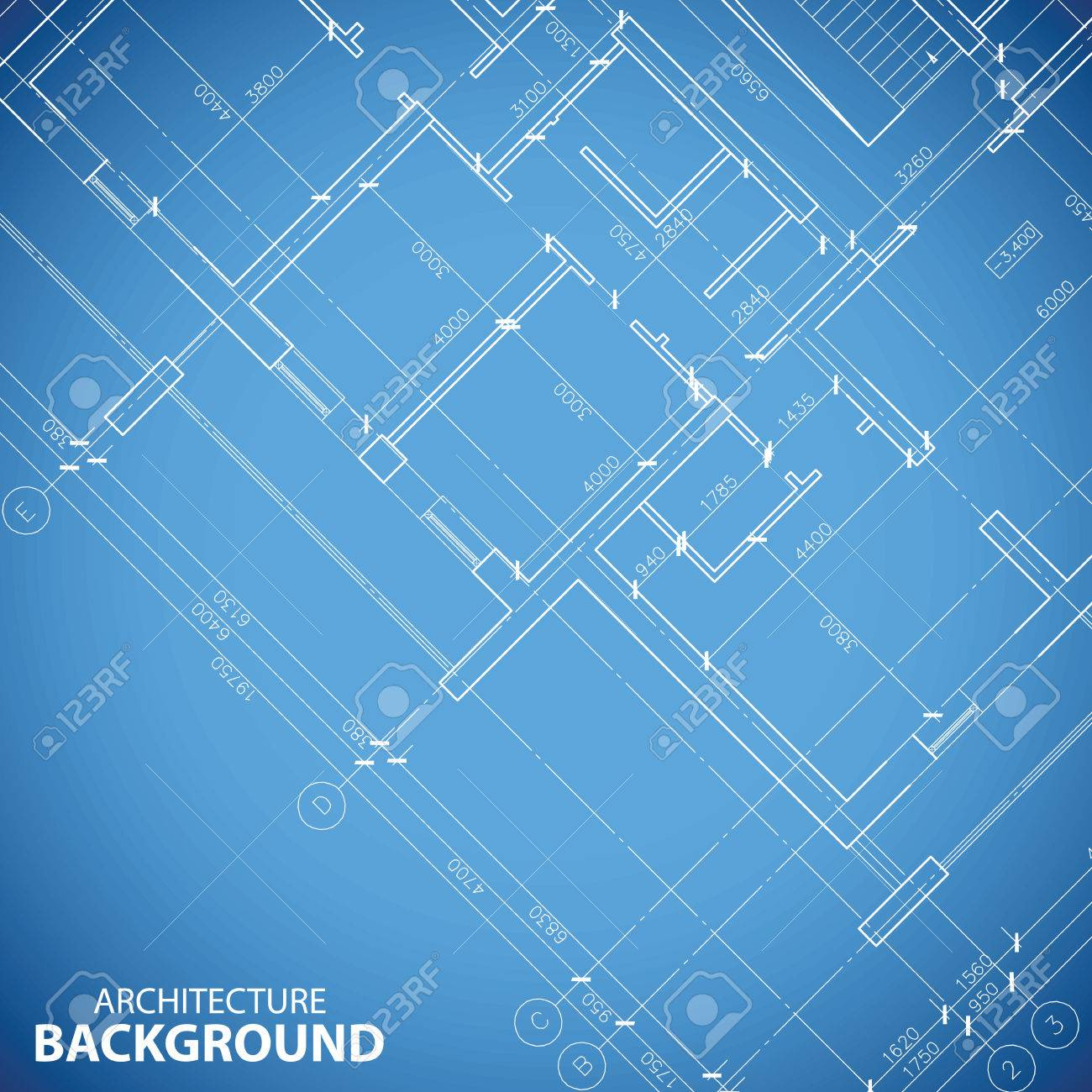 Blueprint Building Plan Background Royalty Free Cliparts Vectors