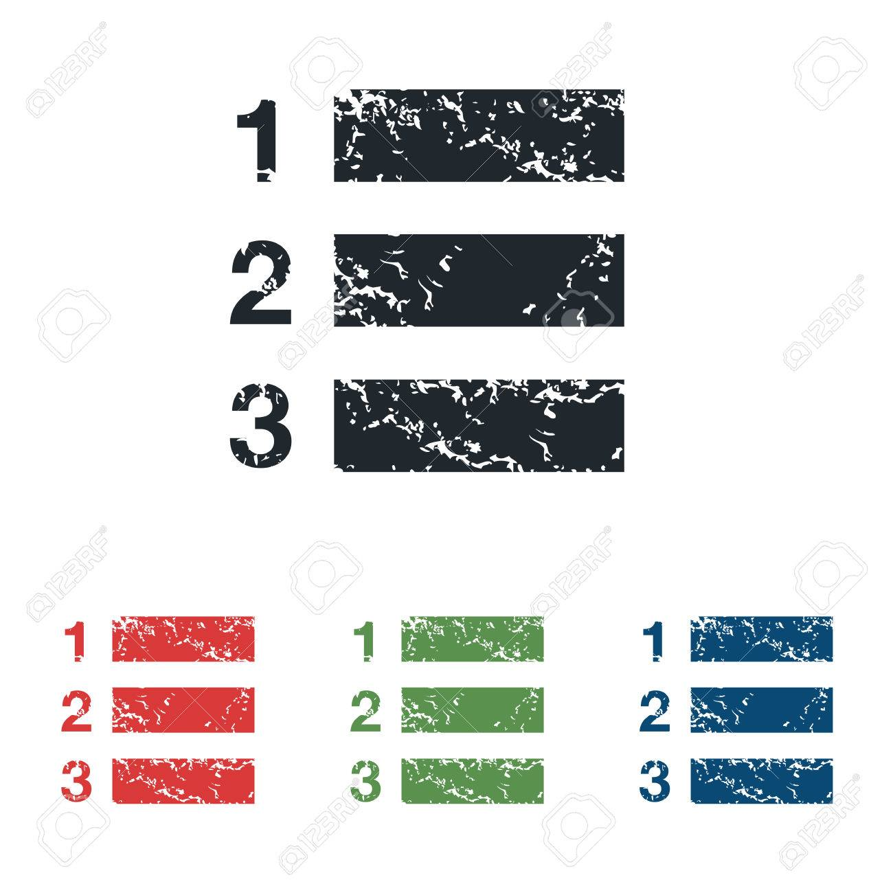 numbered list grunge icon set royalty free cliparts, vectors, and