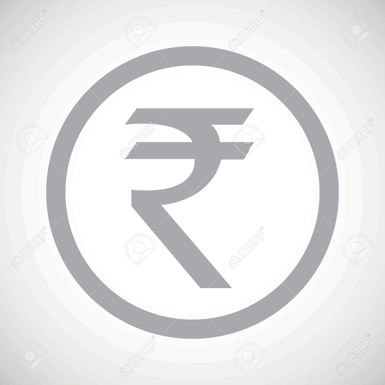 Grey indian rupee symbol in circle on white gradient background grey indian rupee symbol in circle on white gradient background stock vector 41529380 buycottarizona