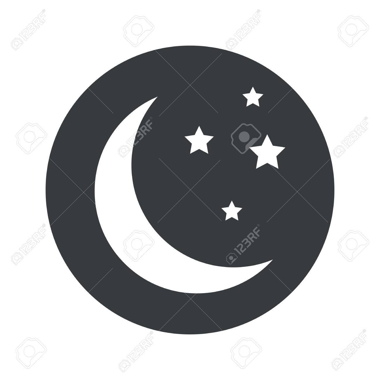 Image of crescent moon and stars in black circle isolated on image of crescent moon and stars in black circle isolated on white stock vector biocorpaavc Gallery