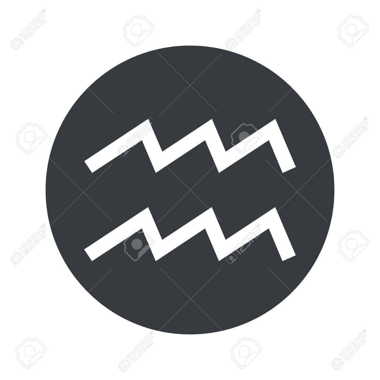 Image of aquarius zodiac symbol in black circle isolated on image of aquarius zodiac symbol in black circle isolated on white stock vector 41860997 biocorpaavc Image collections
