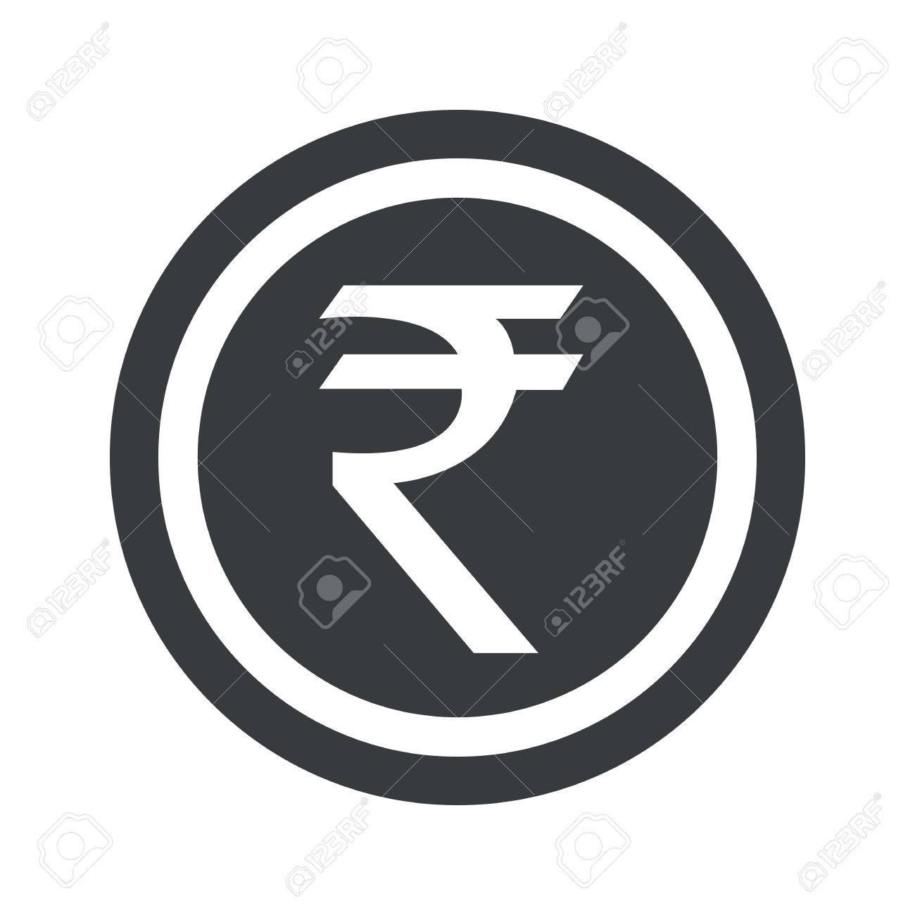 Indian rupee symbol in circle on black circle isolated on white indian rupee symbol in circle on black circle isolated on white stock vector biocorpaavc