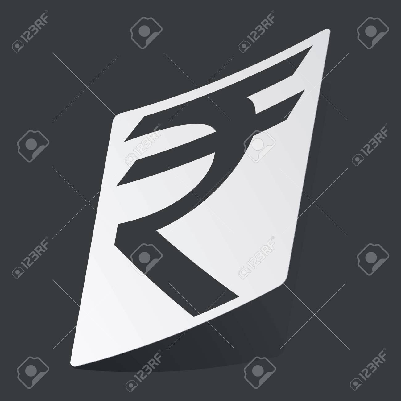 White sticker with black indian rupee symbol on black background white sticker with black indian rupee symbol on black background stock vector 42338496 biocorpaavc Choice Image