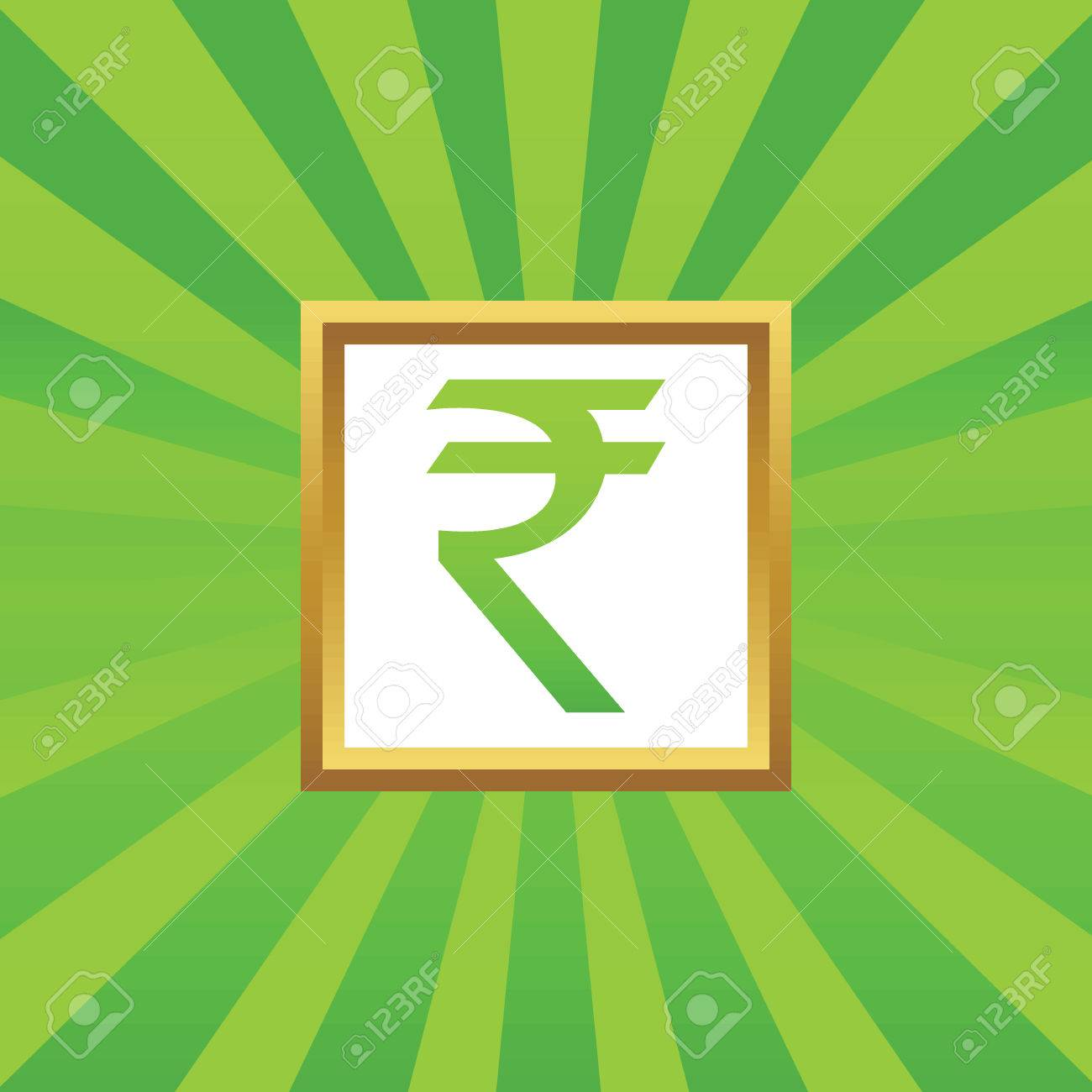 Image of indian rupee symbol in golden frame on green abstract image of indian rupee symbol in golden frame on green abstract background stock vector biocorpaavc Choice Image