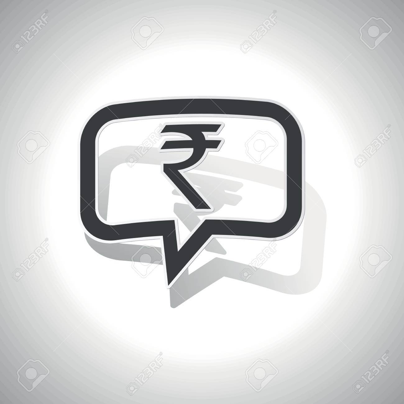 Curved chat bubble with indian rupee symbol and shadow on white curved chat bubble with indian rupee symbol and shadow on white stock vector 43303112 biocorpaavc Choice Image