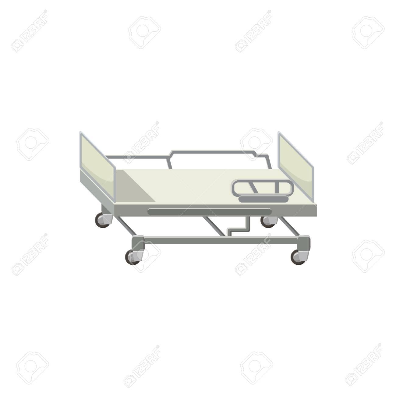 Mobile Icono De La Cama Médica En El Estilo De Dibujos Animados ...
