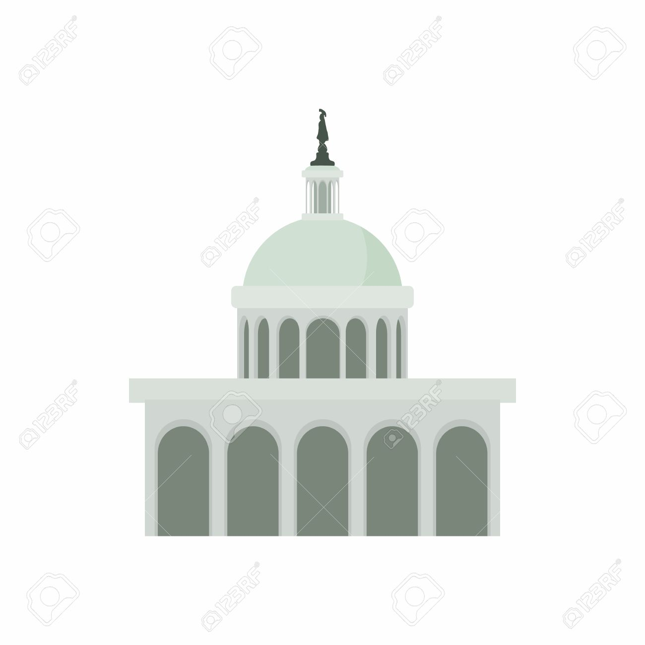 white house in washington dc icon in cartoon style on a white rh 123rf com