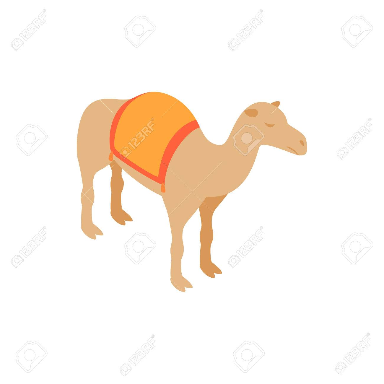 Camel icon in isometric 3d style isolated on white background camel icon in isometric 3d style isolated on white background desert animal symbol stock vector biocorpaavc Images