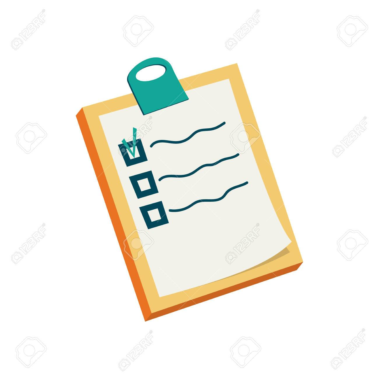 to do list icon in cartoon style on a white background royalty free