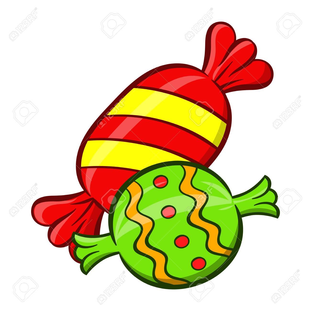 Süßigkeit Symbol in Cartoon Stil auf weißem Hintergrund. Süßigkeiten Symbol