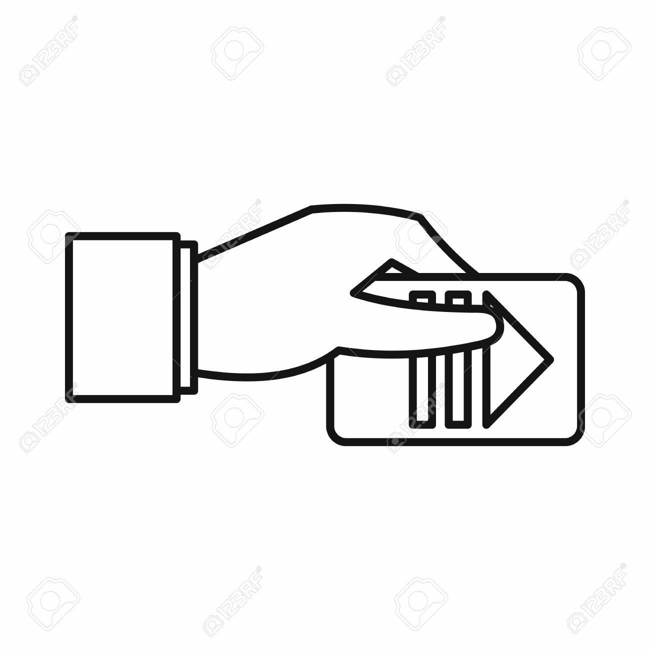 hand parking ticket icon in outline style isolated on white hand parking ticket icon in outline style isolated on white background stock vector 58818914