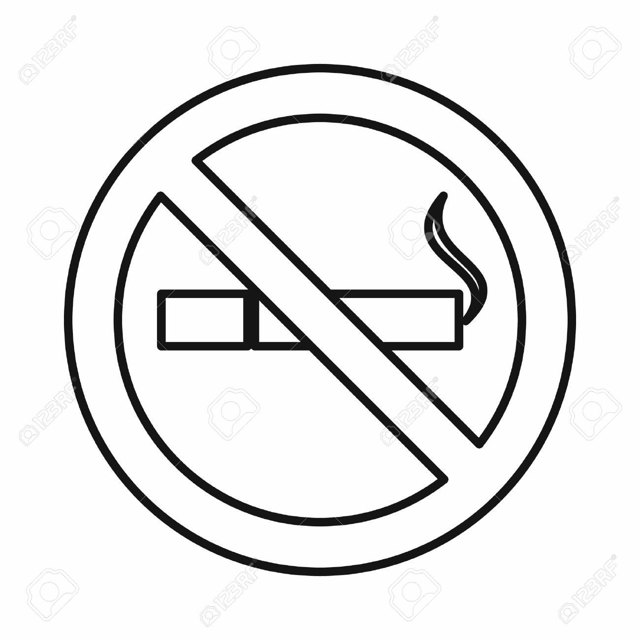 no smoking sign icon in outline style isolated on white background stock vector 58856255