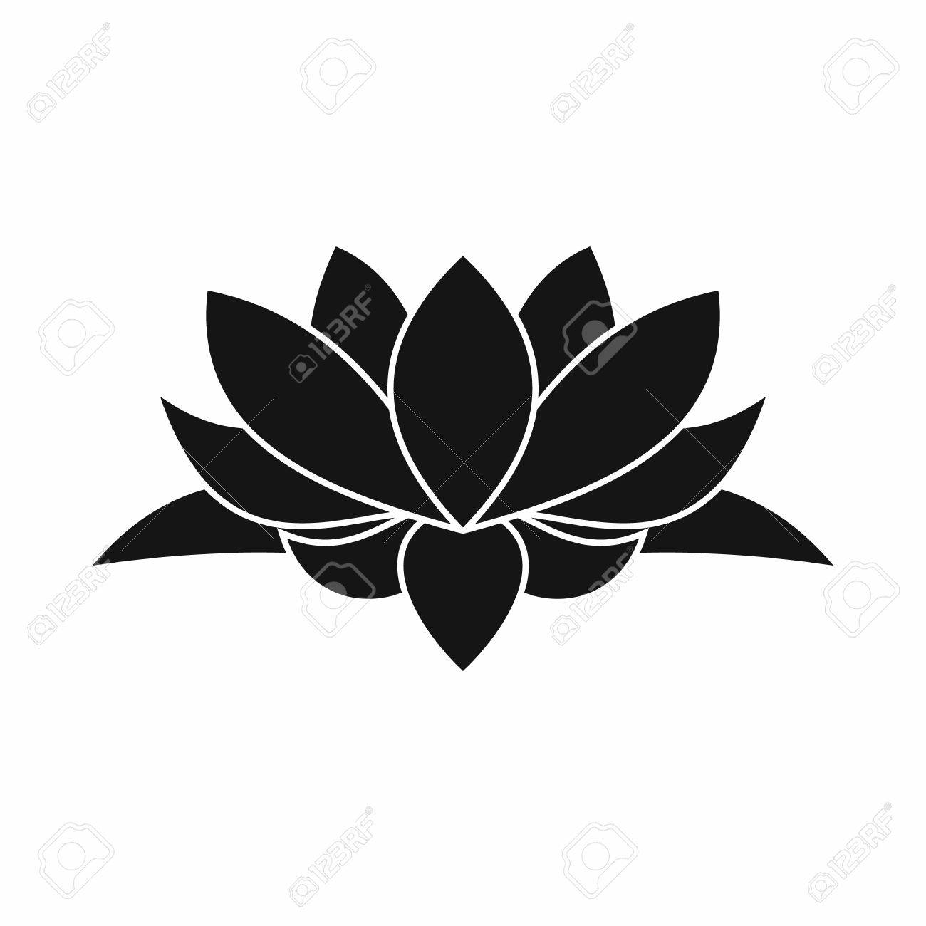 Lotus flower icon in simple style isolated on white background - 59137737