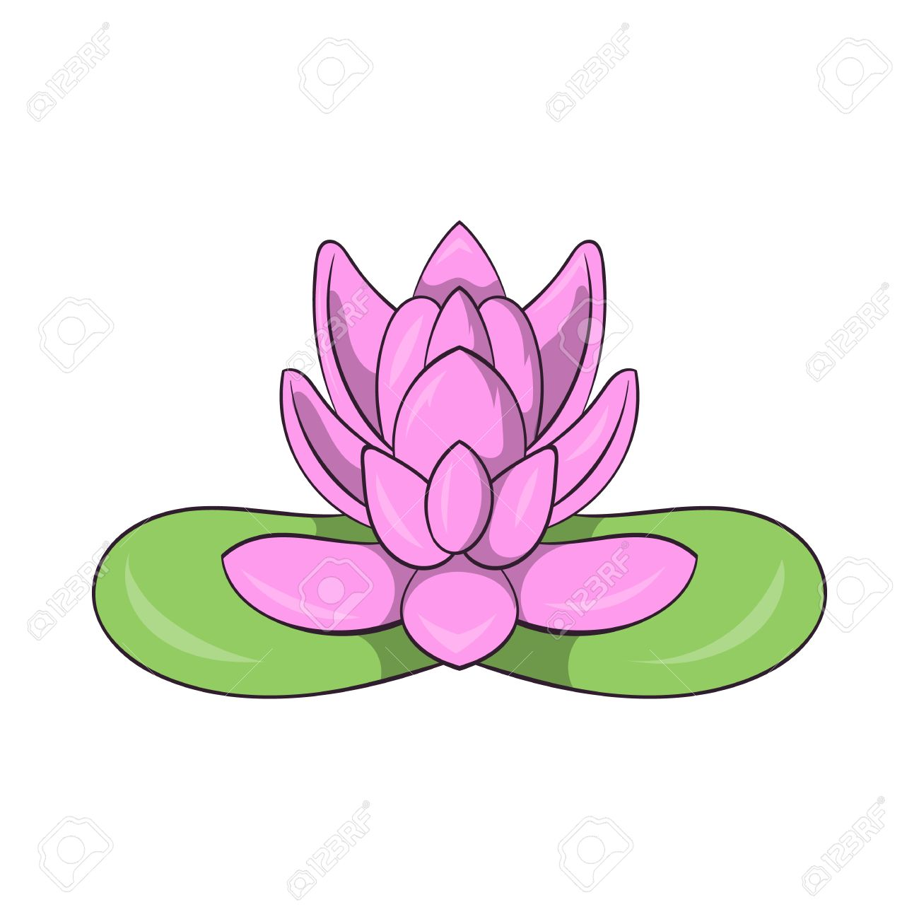 Pink lotus flower icon in cartoon style on a white background pink lotus flower icon in cartoon style on a white background stock vector 59052334 dhlflorist Images