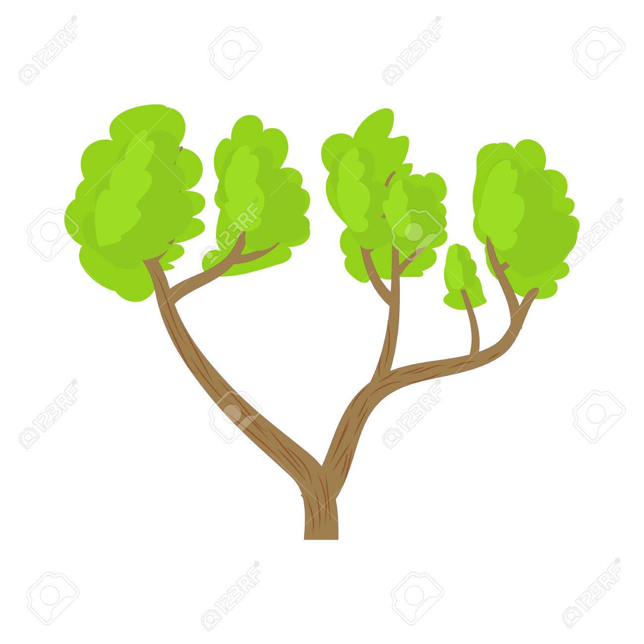 A Tree With A Spreading Green Crown Icon In Cartoon Style On Royalty Free Cliparts Vectors And Stock Illustration Image 59052432 612 x 612 jpeg 30 кб. 123rf com