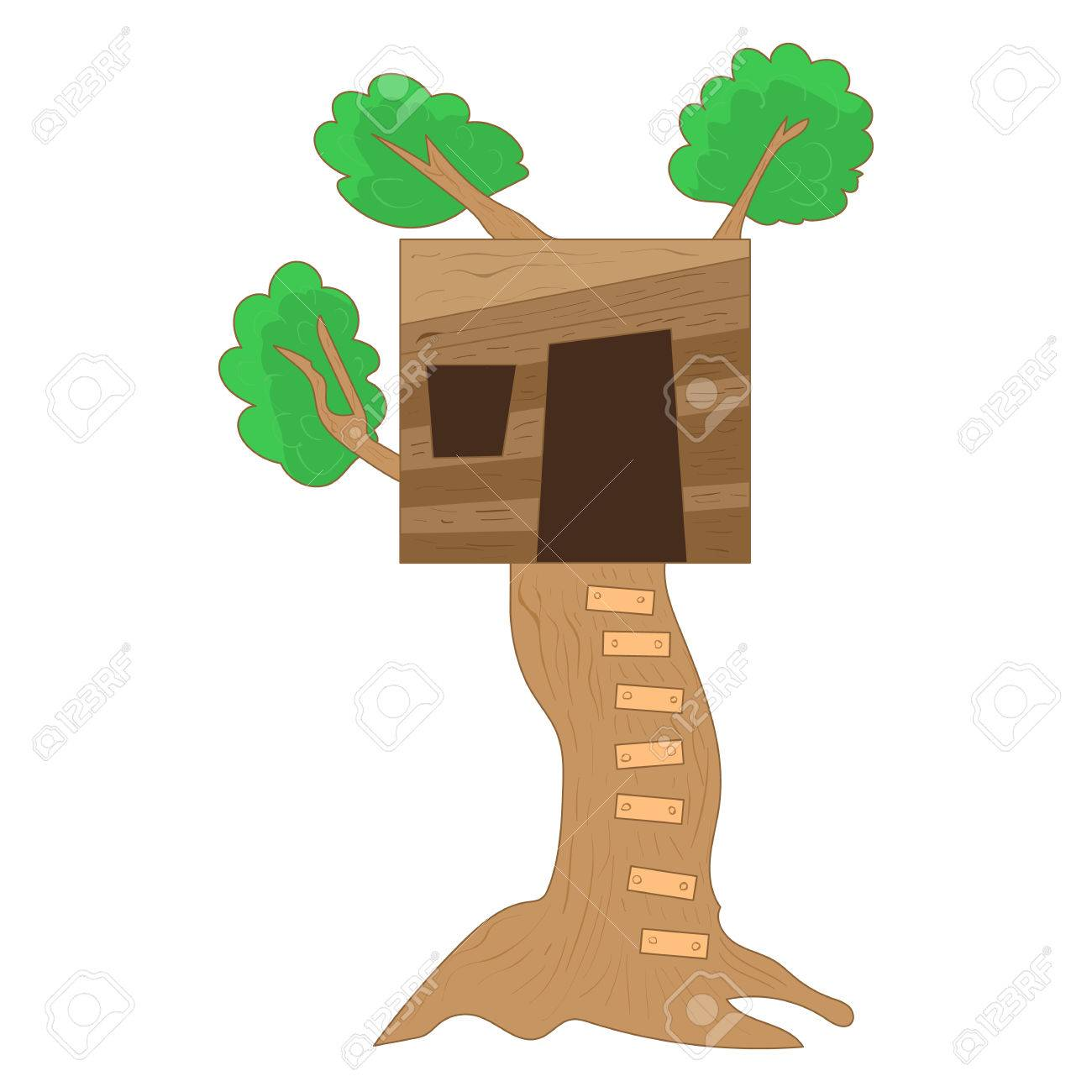 Small Tree House Icon In Cartoon Style On A White Background Royalty Free Cliparts Vectors And Stock Illustration Image 59062060 Stzh026pattern type:tree housequantity:1pcs/lotsize:size:11 style simple cartoon autumn tree element decorative pattern, autumn tree, fall, autumn png and vector with transparent background for free download. 123rf com