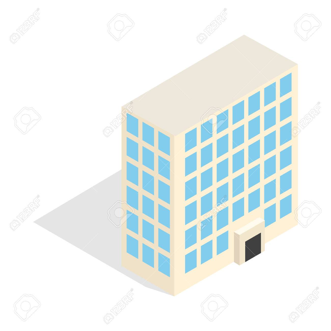 Office building icon in isometric 3d style isolated on white office building icon in isometric 3d style isolated on white background construction symbol stock vector biocorpaavc
