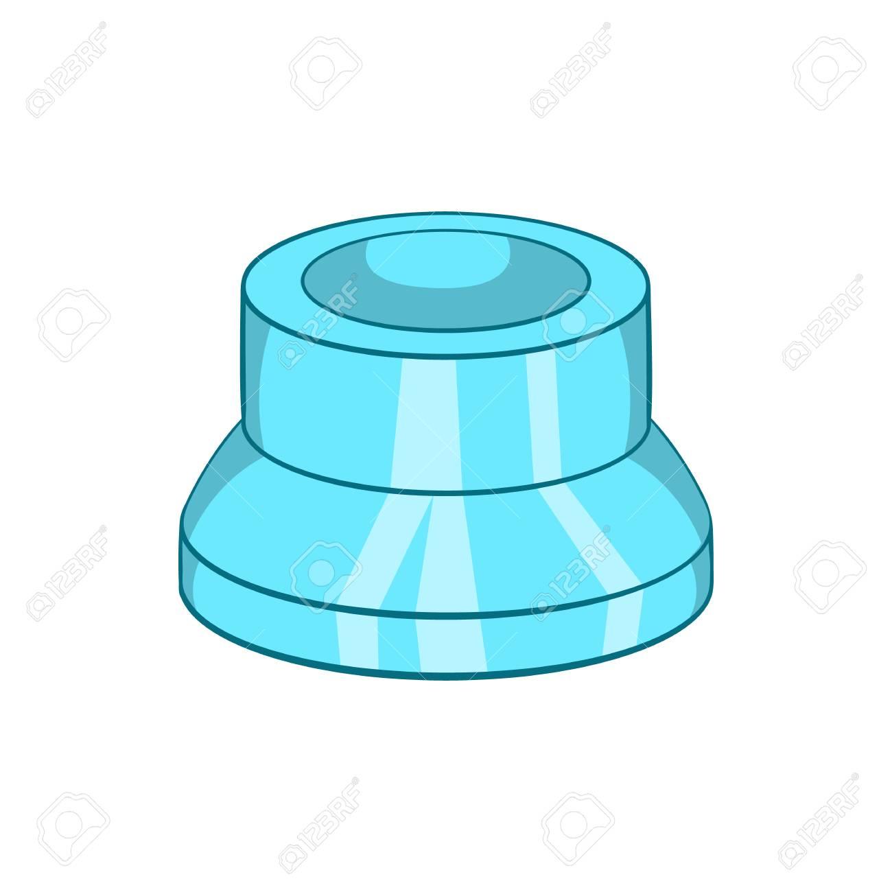 Transparente Icono De La Tapa De Plástico En El Estilo De Dibujos