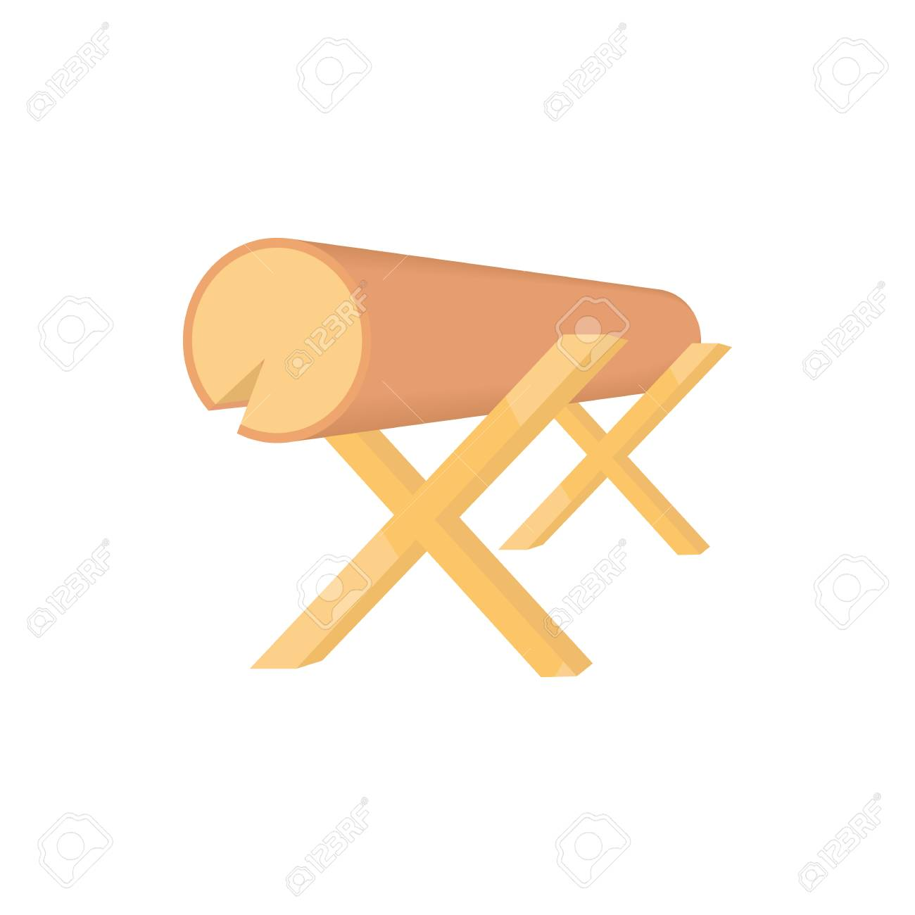 Marvelous Work Bench With The Log Icon In Cartoon Style On A White Background Beatyapartments Chair Design Images Beatyapartmentscom