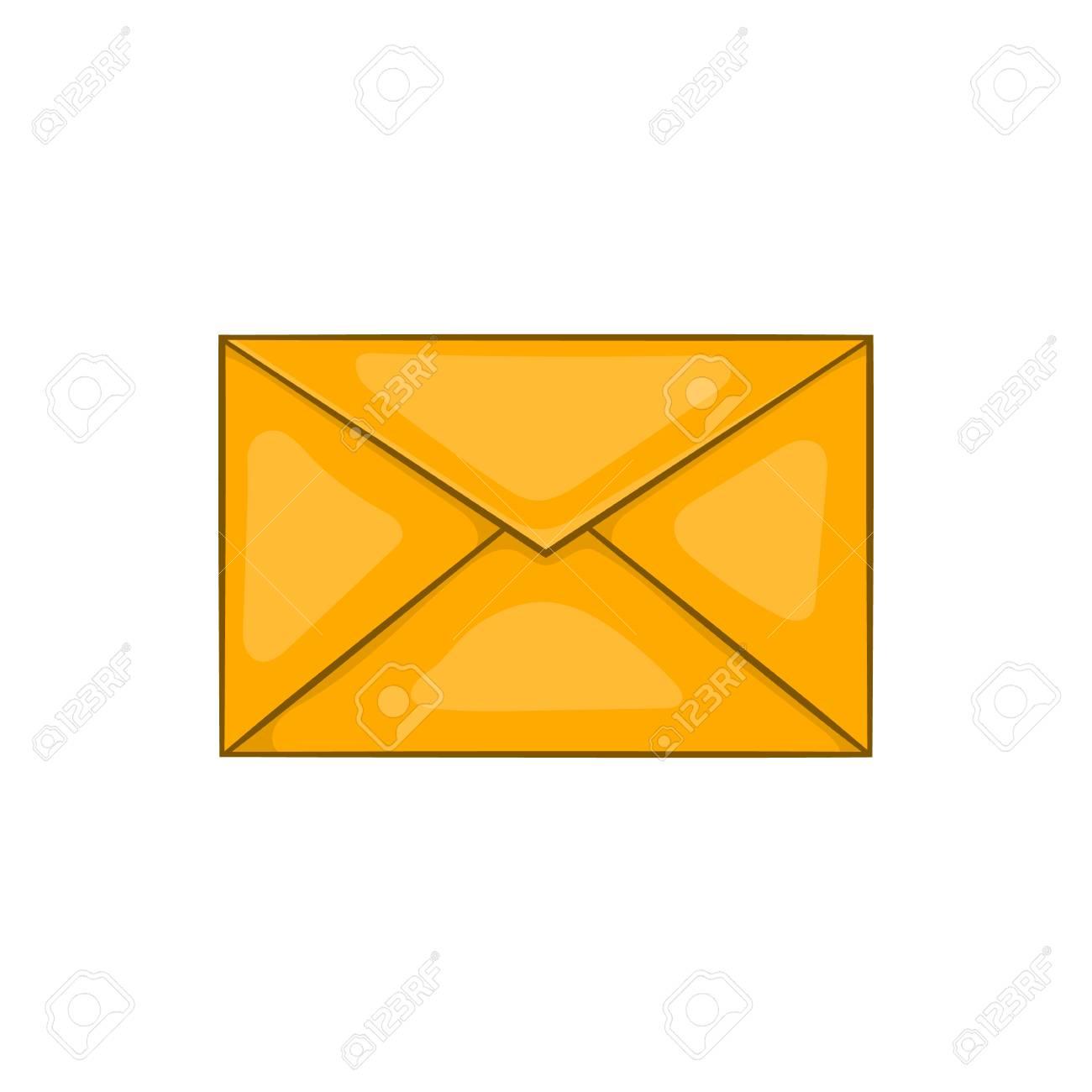 Dessin D Enveloppe icône de l'enveloppe dans le style de dessin animé isolé sur fond