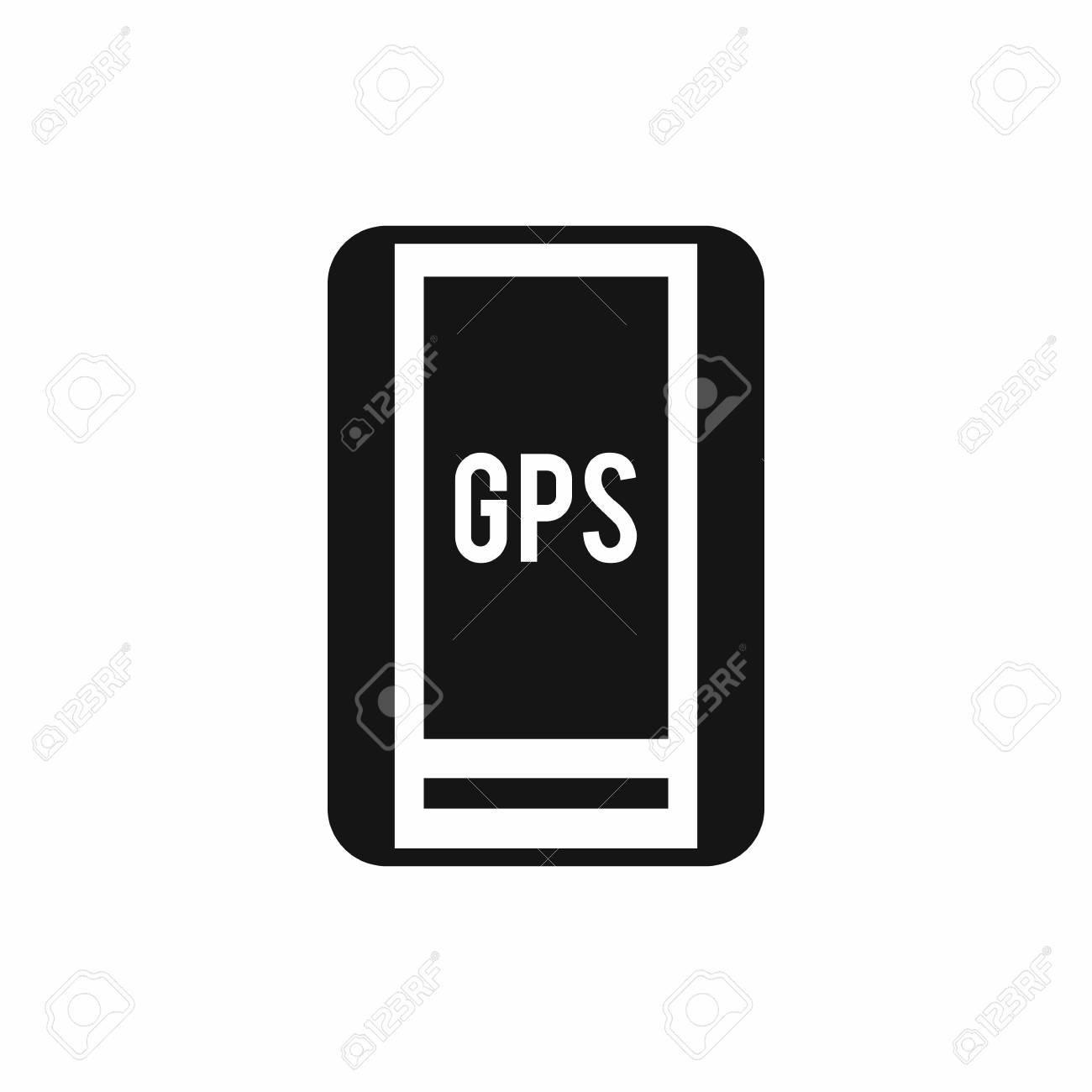 global positioning system icon in simple style isolated vector
