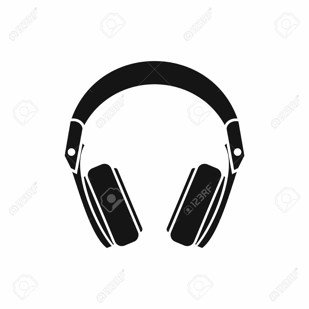 Headphones icon in simple style isolated vector illustration - 60275296