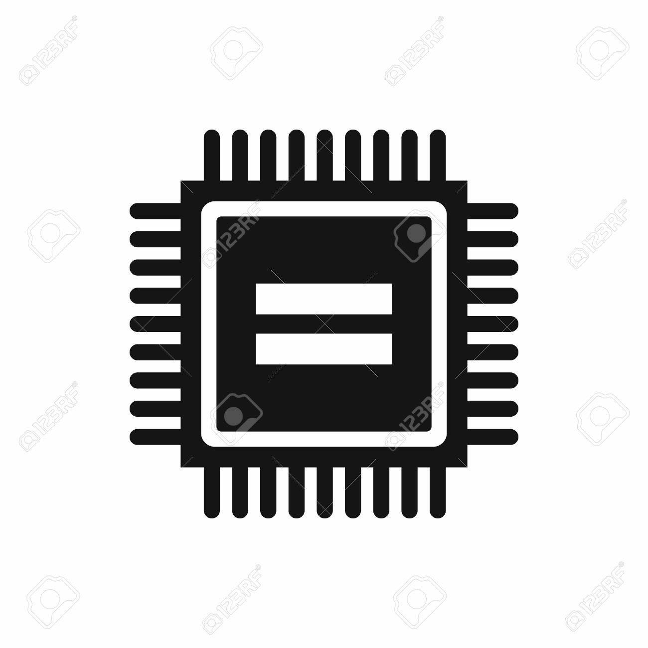 Circuito Sencillo : Icono de la placa de circuito electrónico en la ilustración