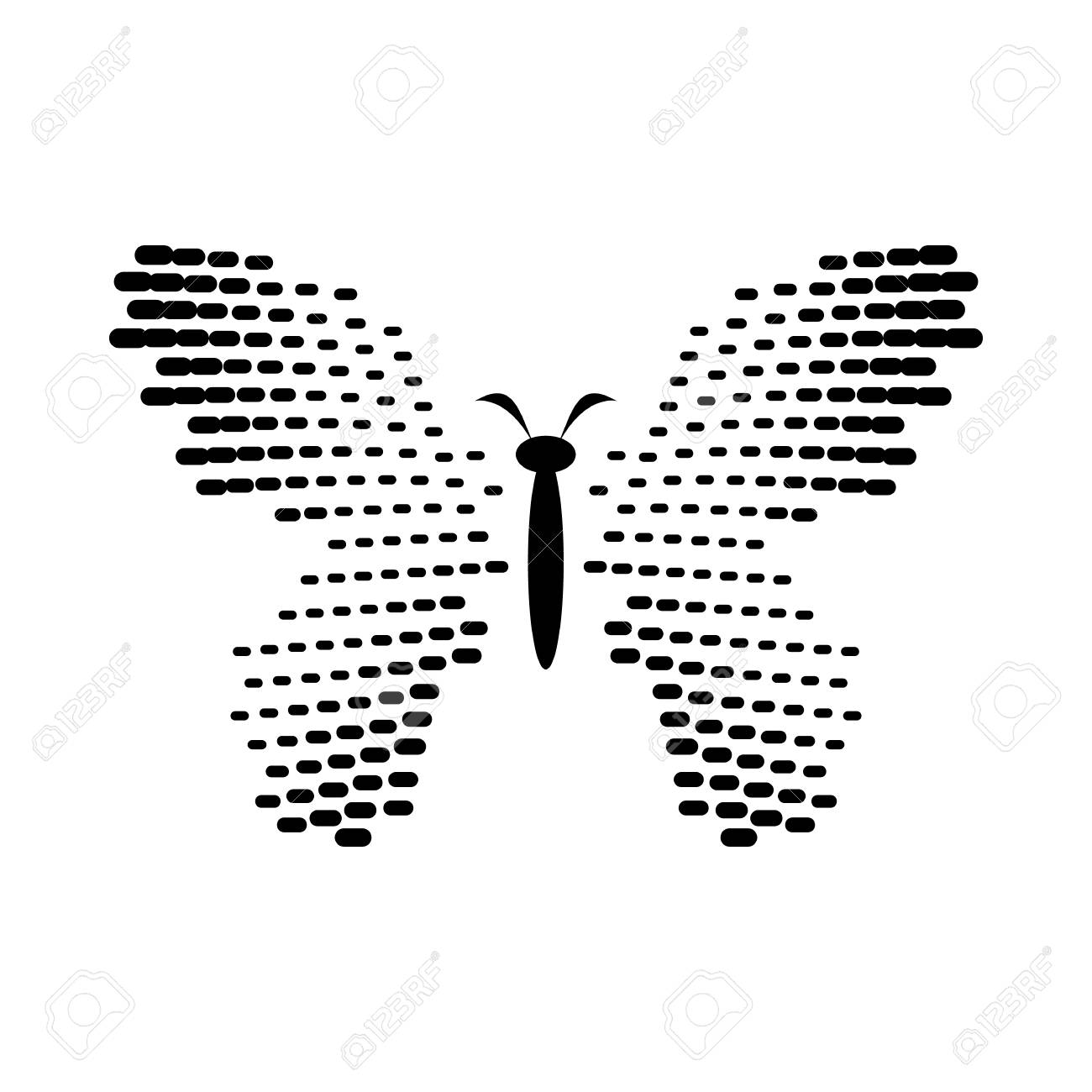 Butterfly with dot wings icon in simple style isolated on white butterfly with dot wings icon in simple style isolated on white background insect symbol stock biocorpaavc Images